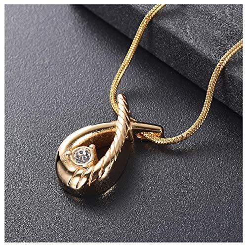 Wxcvz Collar de cremación Kits de llenado Gratis! Cinta de Piedra Recuerdo Urna de cremación Collar con Colgante de Acero Inoxidable de Vidrio