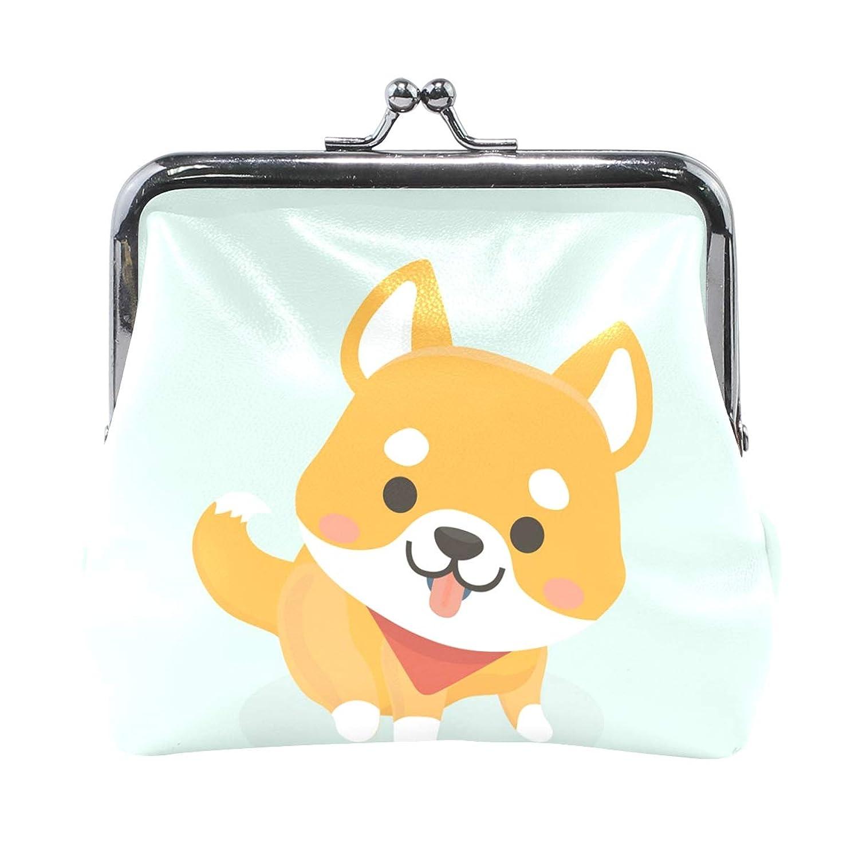 鼓舞するところでおなじみのがま口 財布 口金 小銭入れ ポーチ 柴犬 ベビー 可愛い ANNSIN バッグ かわいい 高級レザー レディース プレゼント ほど良いサイズ