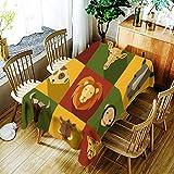 XXDD Mantel de Oso geométrico 3D Mantel de patrón Animal de Dibujos Animados creativos cómodo Mantel Impermeable hogar A10 150x210cm