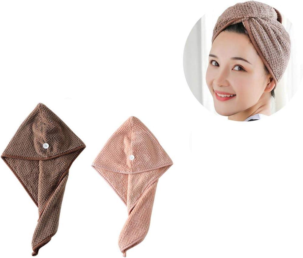 VKEKIEO Cheap mail order shopping Hair Towel Wrap Turban Magic 2 Arlington Mall Instant Microfiber Pack
