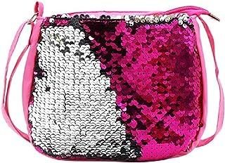 AIBEARTY Kids Toddlers Girls Crossbody Purse Bling Glitter Flip Sequin Small Purse Handbag Shoulder Bag