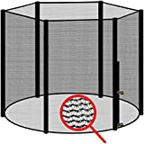 awm® Trampolin Sicherheitsnetz für 6 Stangen - System Fangnetz Netz außenliegend Trampolinnetz...