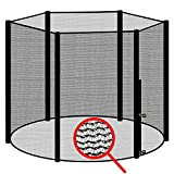 awm Trampolin Sicherheitsnetz für 6 Stangen - System Fangnetz Netz außenliegend Trampolinnetz...