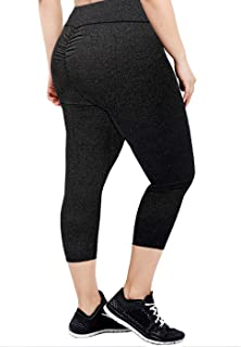 ad8997ced1836 HDE Capri Leggings Scrunch Butt Leggings Yoga Pants for Women Plus Size