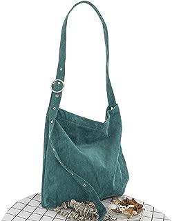 Elonglin Women's Handbag Large Totes Canvas Bags Shoulder Shopping Bags Hobo Travel Beach Bags Green