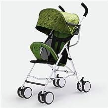 Sillas de paseo El carro de bebé cochecito ligero portátiles que viajan cochecito de niño de los niños con errores puede estar en el plano de plegado del cochecito de niño Los niños de la carretilla
