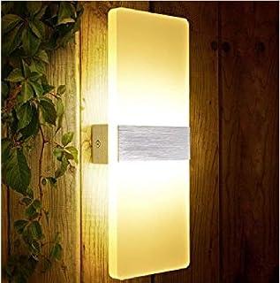 XIAJIA Applique murale moderne 6 W LED pour intérieur, idéale pour lampe de décoration, AC85-265 V, 29 × 11 × 3,5 cm, blan...