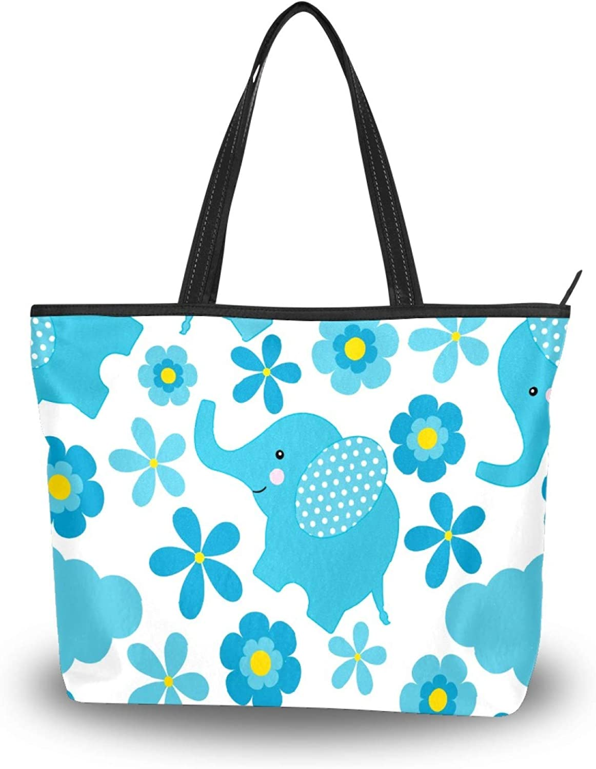 50 Cent Elephant Print Tote Washington Be super welcome Mall Women Polyester Sho Bag Lightweight
