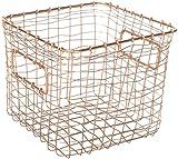 Contemporary Industrial Style Wire Storage Basket - Hand-Made Multi-Purpose Office Kitchen Organizer Holder Bin