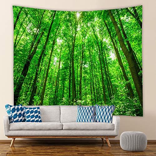 LZYMLG Tapiz para colgar en la pared, diseño de cascada de bosque, para playa, picnic, camping, tienda de campaña, colcha, decoración del hogar, sábana de tela de pared, tapices GT100012 73 x 95 cm