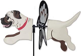 Premier Kites Petite Wind Spinner for Patio, Lawn, Garden | 100% Rain & UV Resistant Polyester - Aerodynamic, Sturdy Long Lasting Dog Wind Spinner (Mastiff)