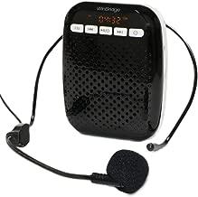 W WINBRIDGE® Amplificador de voz Portátil recargable con micrófono auriculares con cable de para profesores de grupos pequeños Batería de 10W de larga duración