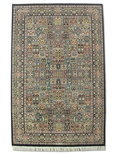 Alfombra tradicional hecha a mano persa Bakhtiar, lana/arte. Seda (destacados), varios colores, mediano, 139 x 213 cm, 4' 7' x 7' (pies)