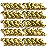 Xinlie 50 Pezzi Viti Chicago a Croce Rivetti Bottoni di FissaggioRivetti Pelle Rivetti Bottoni Massiccio Vite nail Cap Rivetti Solidi per Cinture e Riparazione Cuoio Placcate in Nichel M5x5mm (A)