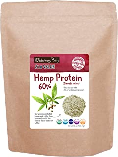 Wilderness Poets, Cold Pressed Organic Hemp Protein Powder, 19 G (32 Ounce - 2 Pound)