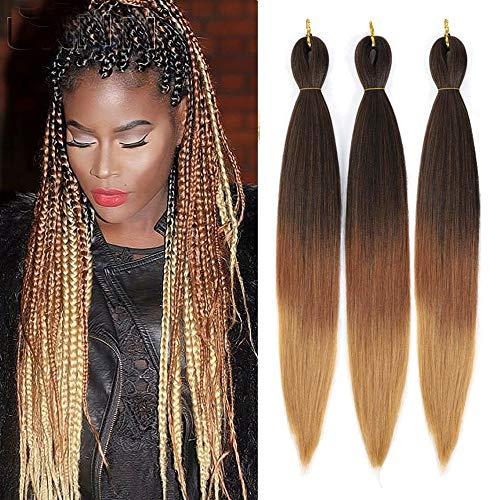 "26"" Pre-stretched Braiding Hair Easy Braid Yaki Soft Synthetic Hair..."