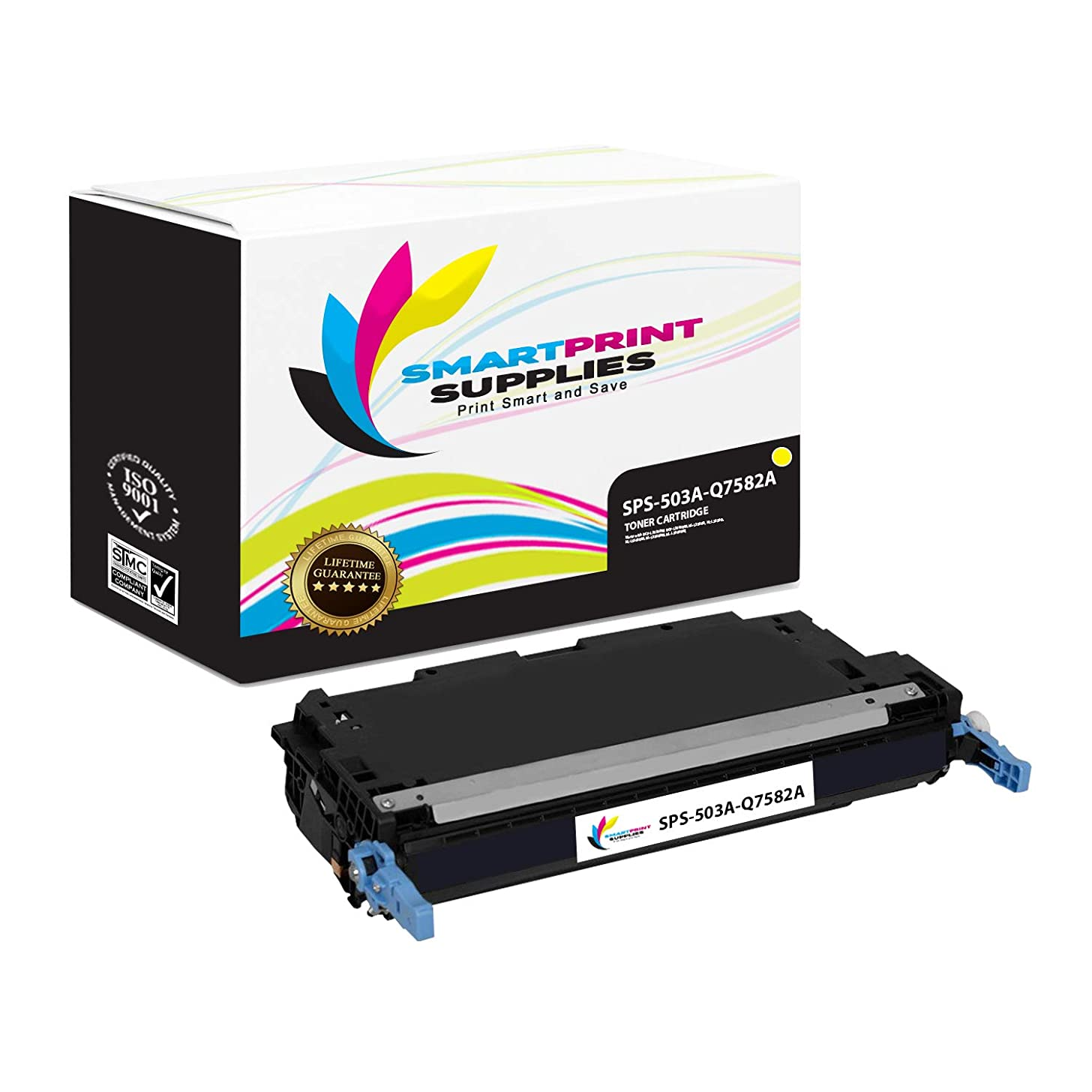 Smart Print Supplies Compatible 503A Q7582A Yellow Toner Cartridge Replacement for HP Color Laserjet 3800, CP3505 Printers (6,000 Pages)