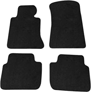 Floor Mats Compatible With 1998-2006 BMW 3 Series E46 | Nylon Black Let Right Front Rear 4PCS Set Carpet By IKON MOTORSPORTS | 2005 2004 2003 2002 2001 2000 1999