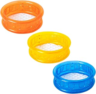 51112 Piscina inflable para niños en 3 colores fondo inflable 64x25 cm - Amarillo