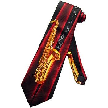 Steven Harris Mens Alto Saxophone Tie - Black - One Size Neck Tie
