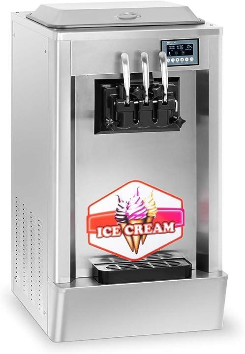 Macchina per il gelato soft macchina frozen yogurt rcsi-20-3(1.850 w, 2 x 8,5 l - 20 l/h, panasonic) B07TK8Z9WF