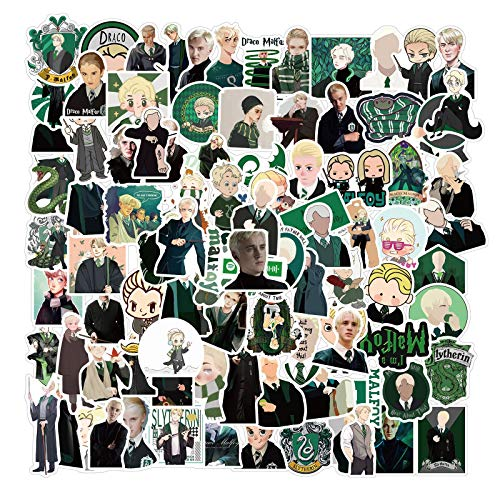 Fancico Laptop Sticker Pack 100 Stück Draco Malfoy Wizard Aufkleber Einzigartige Coole Aufkleber Waterbottle Notebook Gitarre Skateboard Travel Kid Aufkleber