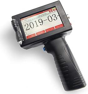 Sumeve Portable Handheld Smart Inkjet Printer Coder Coding Machine Print Date Logo QR Code with LED Screen
