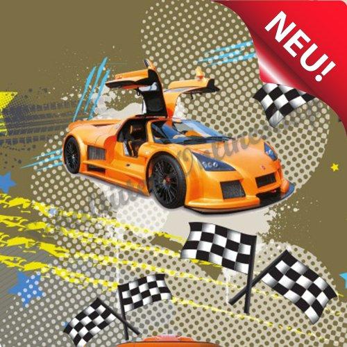 Roth Schultüte Zuckertüte Auto Rennauto Racing 6-eckig 85cm Tüll