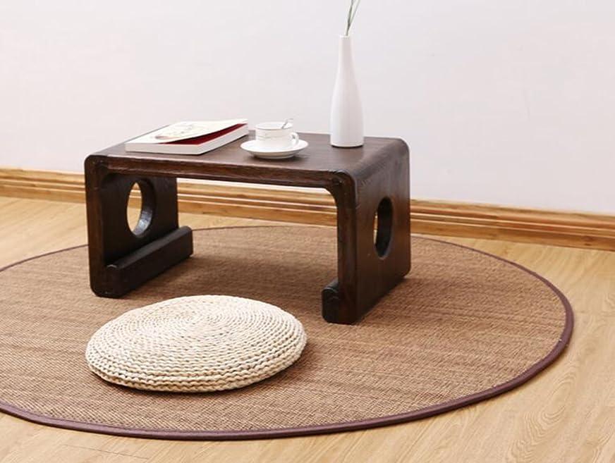 ビジネスレパートリー硬化するカーペット、環境に優しい日本の手作り竹カーペットラウンドリビングルームカーペットヨガマットクッション、現代生活と寝室のカーペット直径150 Cm HYBKY (Size : Diameter: 130cm)