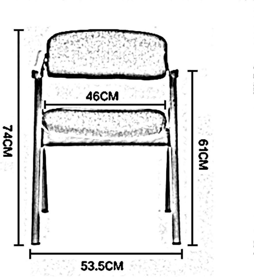 Chaise accoudoir Amovible Chaise à Manger en Bois Massif Nordique Loisir créatif Moderne Minimaliste Pliage (Color : D) D