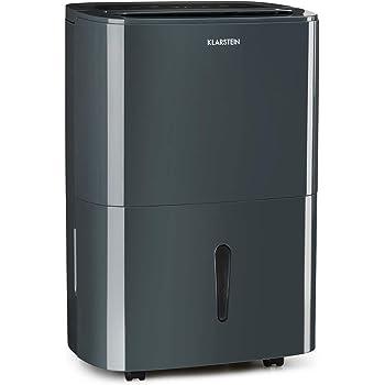 Klarstein DryFy20 Deshumidificador de Aire - Secadora de reformas, 420 W, 20 L/día, Espacio Ideal: 40-50 m², Filtro Nylon, DrySelect, Modo silencioso, 45 dB, Antracita: Amazon.es: Hogar