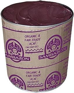 Sambazon Organic, Dairy Free, Fair-Trade Acai Berry Sorbet 3 Gallon