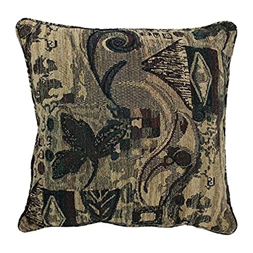 Blazing Needles Double-Corded Patterned Jacquard Chenille Square Floor Pillow with Insert, 25