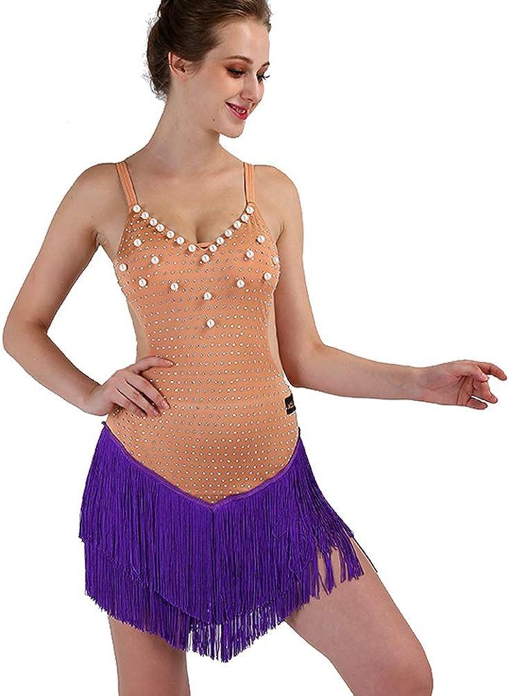 New Latin outlet Dance Dress Salsa Max 67% OFF Tango Cha Ballroom Co Rhinestone cha