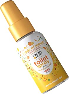 Squatty Potty Unicorn Gold Toilet Spray, Citrus Squeeze Loads of Lemon, 2 Fl Oz