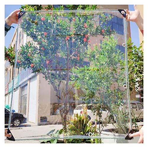 JYW-coverS YANJINGYJ Cubierta Aislante Lona, Muebles Duradera Toldo, Exteriores Protección Canvas for GardenMate Jardín Gazebo Intemperie, 400g /m², 0.3mm (Color : Clear, Size : 1x2m)