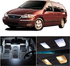 SCITOO 9Pcs White Interior LED Light Package Kit Replacement Bulbs Fits for ford WINDSTAR 2001-2003