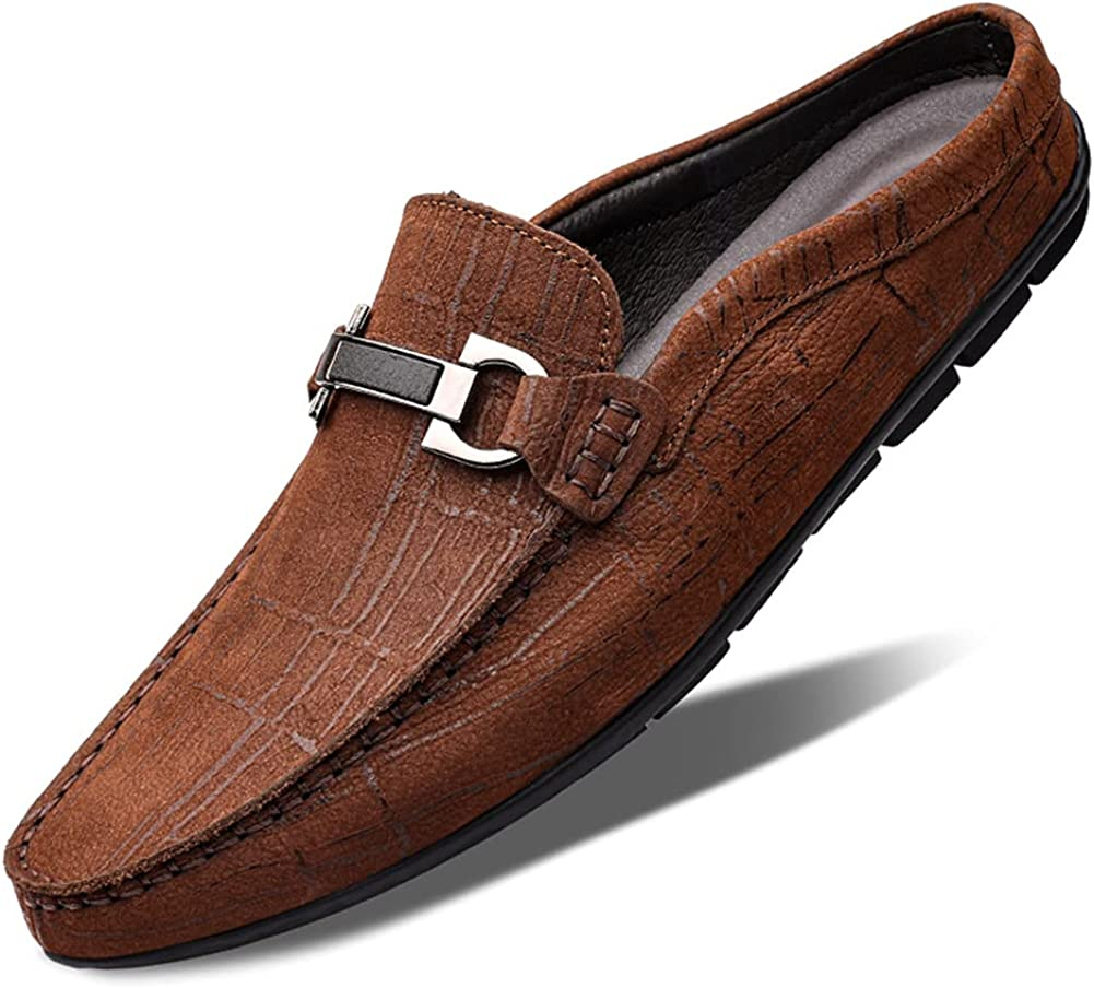 Men's Slippers Fashion Comfortable Low-top Genuine Leat Max Bargain 43% OFF