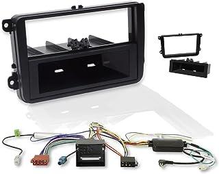 morebasics CAR Can Bus und Lenkradfernbedienungs Interface   Einbauset mit Doppel Din Radioblende (2 DIN und 1 DIN) Quadlock Radioadapter Antennenadapter Phantomspeisung für viele PKW und Transporter