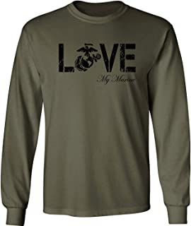 Love My Marine Long Sleeve Tee in Military Green