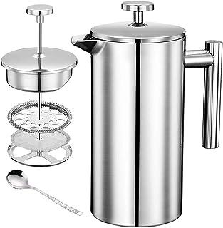フレンチプレス コーヒーメーカー カフェティエール ステンレス製 ダブルウォール 350ml