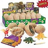 QUCHENG Huevo de Dinosaurio Kit de excavación interna-12 Dinosaurios...