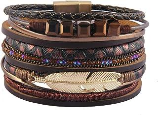 Bfiyi Leather Wrap Bracelet Women Prime Handmade Bangle...
