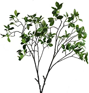 Htmeing 2 Pcs Artificial Eucalyptus Leaves Spray Faux Eucalyptus Branches Plants Fake Greenery Long Stems 44