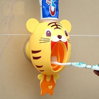 Gaocunh - Dispensador automático de Pasta de Dientes, Manos Libres para niños, con exprimidor de Pasta de Dientes montado en la Pared, para niños, Ducha, baño, Fregadero