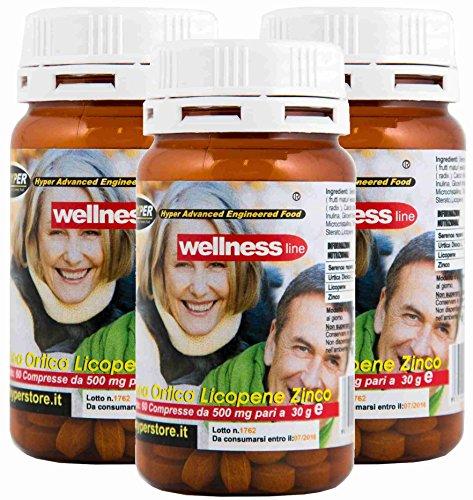Integratore Prostata Benessere Salute con Porta Pillole 3 BOX da 60 Compresse Formulazione con Serenoa Repens (Saw palmetto) Ortica, Licopene Rimedio Naturale 1 Confezione 2 mesi di Trattamento