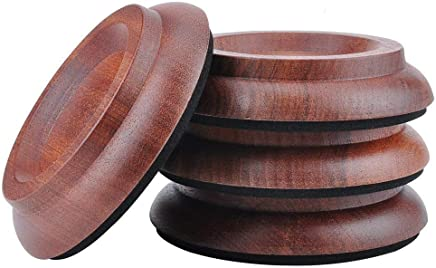 (Sand Billy) - Hardwood Furniture Caster Cups,for beds Desk Piano and Dresser Furniture Legs Caster Cups (Sand Billy)