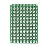 Akozon Basetta Millefori, 10 pz Doppia Faccia Prototipazione Circuiti Stampati Universale Componenti Elettronici per Saldatura a Saldare Fai da te 5 x 7cm
