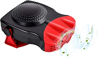 Car Heater 12V Car Windshield Defogger Defroster 12 Volt 150W Auto Cooling Fan 3-Outlet 30 Seconds Fast Heating Demister (Red1) …