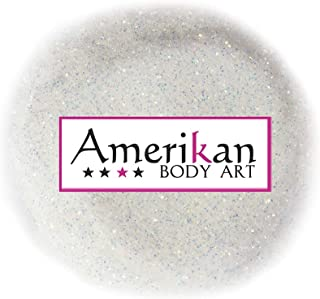"""Amerikan Body Art Biocompostable Chunky Glitter - Fire Opal (0.008"""" Hex), Cosmetic Glitter for face, body and hair - 1 oz bag"""